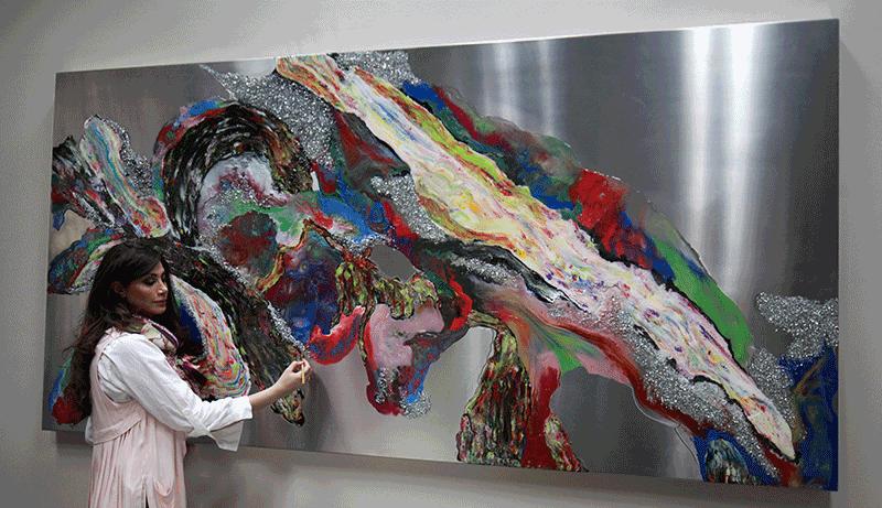 Maha Shishehgar - Large Format Paintings